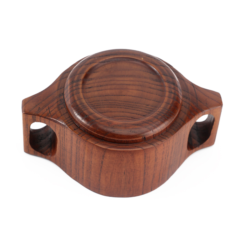 Creative Wooden Kids Bowl Food Container Durable Hot Safe Small Wood Bowl with Handle Soup Fruit Cereal Bowl Children Dinnerware (2)