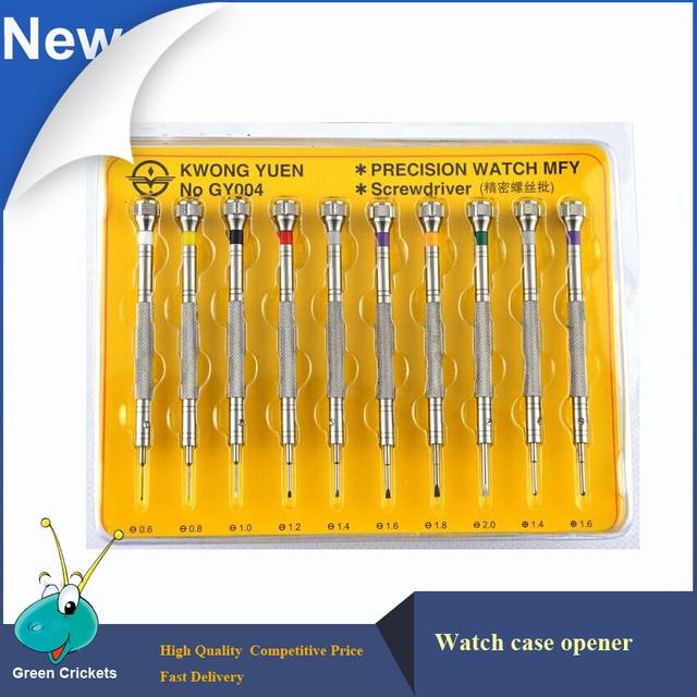Extrema Dureza 10 pçs/set 316 # Aço assistir conjunto chave de fenda, ferramentas de Reparação do Relógio relógio de Precisão chave de fenda para relojoeiro