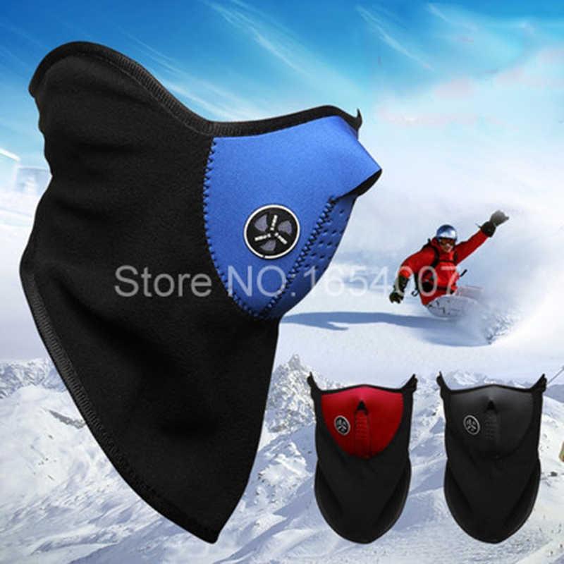 Спортивных занятий сноубордом, лыжами одна вторая из флиса на шлем уход за кожей лица Маска Зимний Капюшон защищающая от ветра шапка Головные уборы Термальность для Bicyle, езды на велосипеде, мотоцикле и MZ