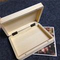 DIY  Wooden Box For Note Cards Dresser Desk Top Decoration High Quality Beautiful Gift Storage Case Photo Keeping Box  15*11*3cm