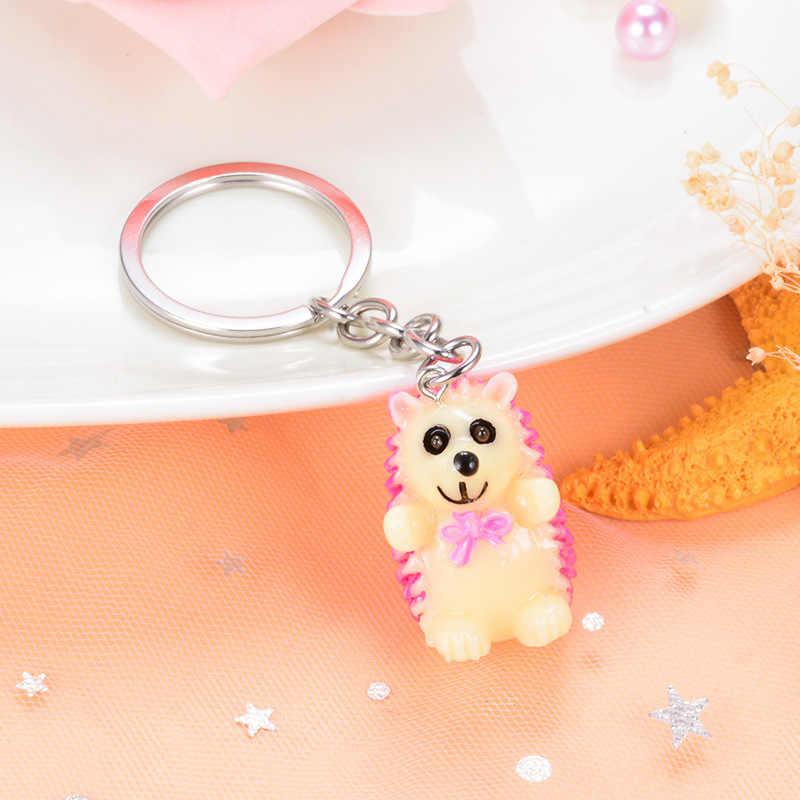 Brelok Sitaicery Keychain Bonito Hedgehog Chaveiro Pequeno Pingente Charme Saco Porte Clef Chaveiro Chave Anel Mulheres Jóias de Natal