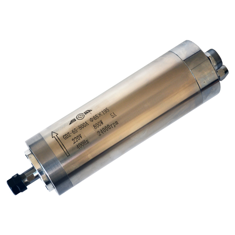 AC220V 800W ER11 65*195mm Small Water-cooled High Speed Spindle Motor Woodworking Engraving Machine/Drilling Machine Motor new branded water cooled spindle motor 800w 65 x 158mm er11 400hz