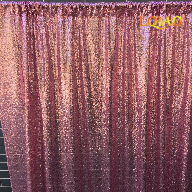 4FTx6FT Pink Gold Sequin BackdropsGlitter CurtainWedding Photo Booth BackdropPhotography