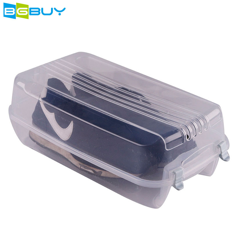 Bulky Transparent Clear Shoes Packaging Box Clear Stackable Shoe Storage Box Large Capacity Thickened Drawer Shoe Box Eco Friend
