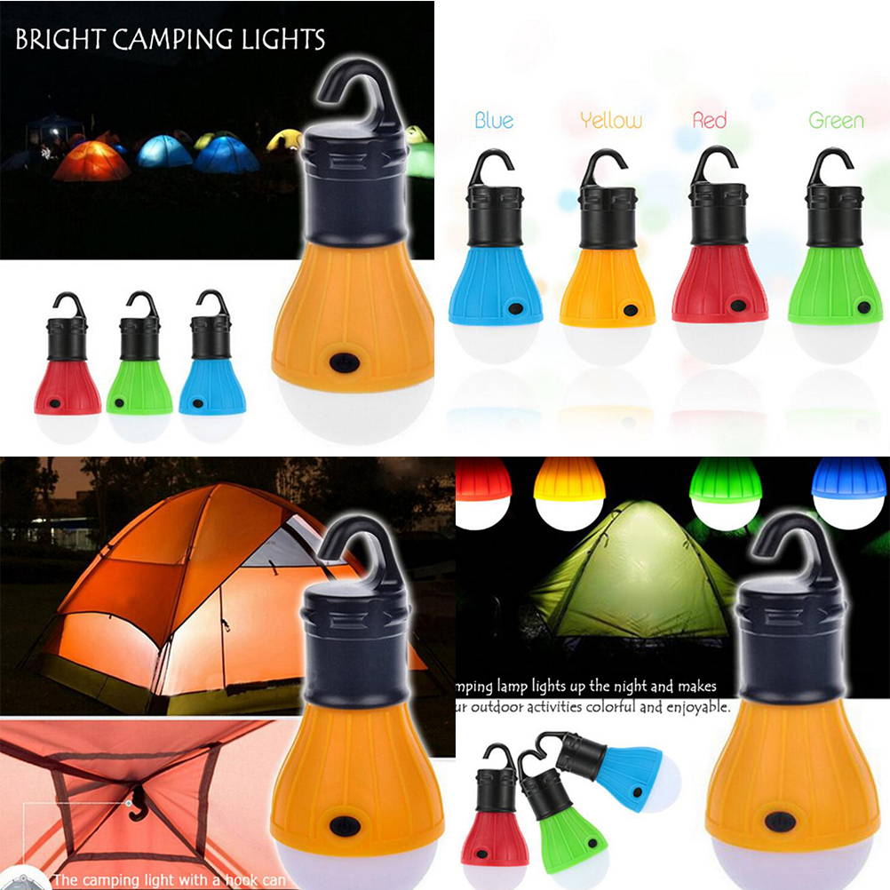 Portable 3xAAA Batteries Hanging Tent Lamp Emergency LED Bulb Light Camping Lantern For Mountaineering Activities Backpacking