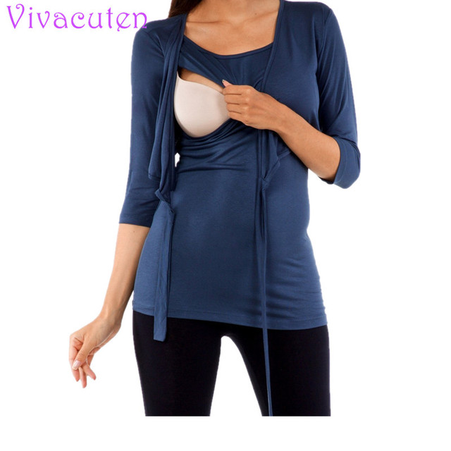 c56f7bfbcc75c Women Breastfeeding Clothes Maternity T shirt Pregnancy Clothing Shirt  Summer Pregnant Tops Plus Size Nursing Clothes