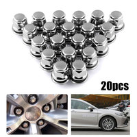 20pcs/Set Auto Wheel Hub Screw Cap Metal Steel Fastener Clips Car Nuts Wheel Nut Hub Car styling Caps for Toyota for Camry