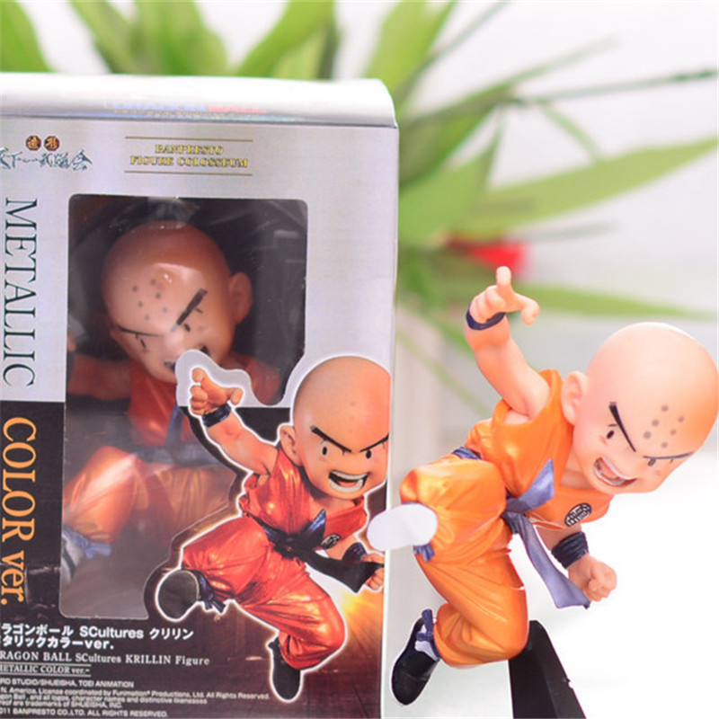 1pc/lot Kawaii Cute Dragon Ball Krillin Action Figures Collection Model Toys Dragonball Z Figuras DBZ With Base Jump 13cm ...