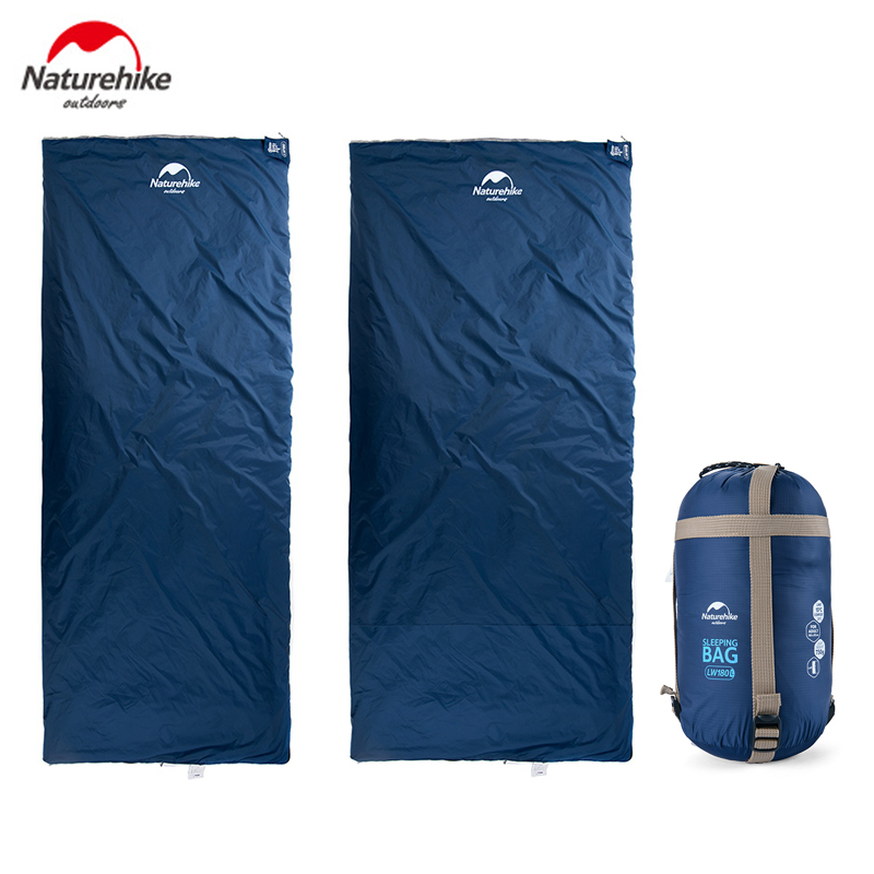 Naturehike Outdoor Envelope Sleeping Bag 190*75/85cm Camping Hiking Spring Autumn Sleeping Bag only 680g