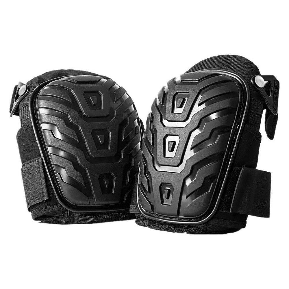 1 par/set almofadas de joelho profissionais com correias ajustáveis seguro eva gel almofada pvc escudo joelheiras para o trabalho resistente