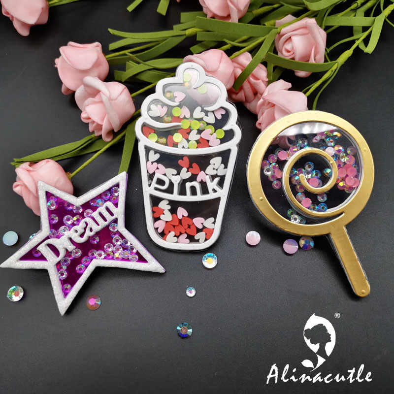 Die ตัดโลหะตัด Ice cream Star Alinacraft DIY Scrapbooking Papercraft Handmade Card ลายฉลุตัด Die