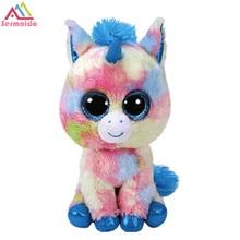 sermoido TY 6 '' Beanie Boos Pegasus Unicorn Beanie Babies Plysch Fylld Dock Toy Toy Collectible Mjuk Big Eyes DBP182