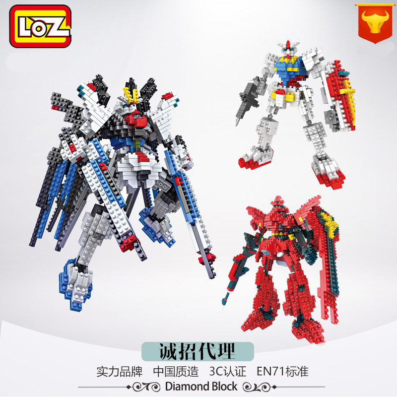 Ormino LOZ Gundam robot rc toys mini blocks hobbies building blocks kits hot toys figuras Christmas Gifts Home Decorations home 4pcs lot loz christmas gifts doraemon