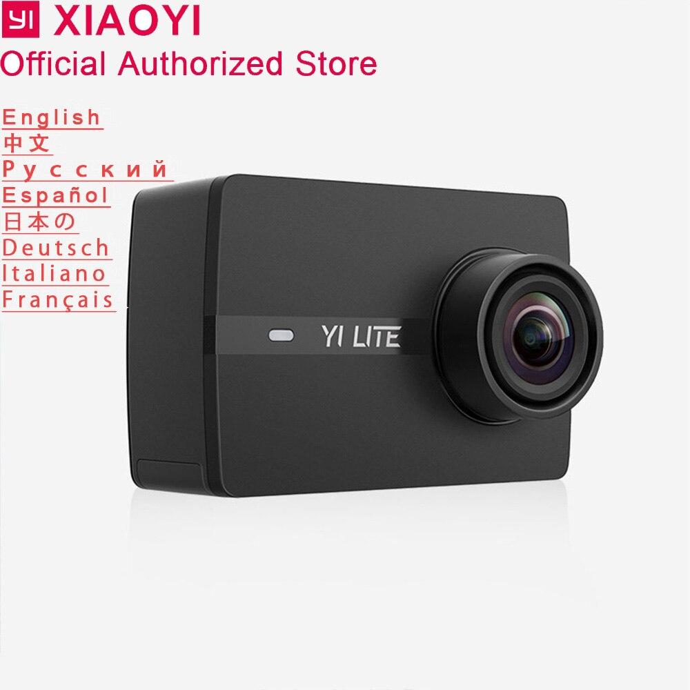 Xiaomi Yi Lite caméra d'action Sport caméra extérieure écran Kamera Wifi Bluetooth objectif grand Angle écran tactile Camaras TF Slot APP