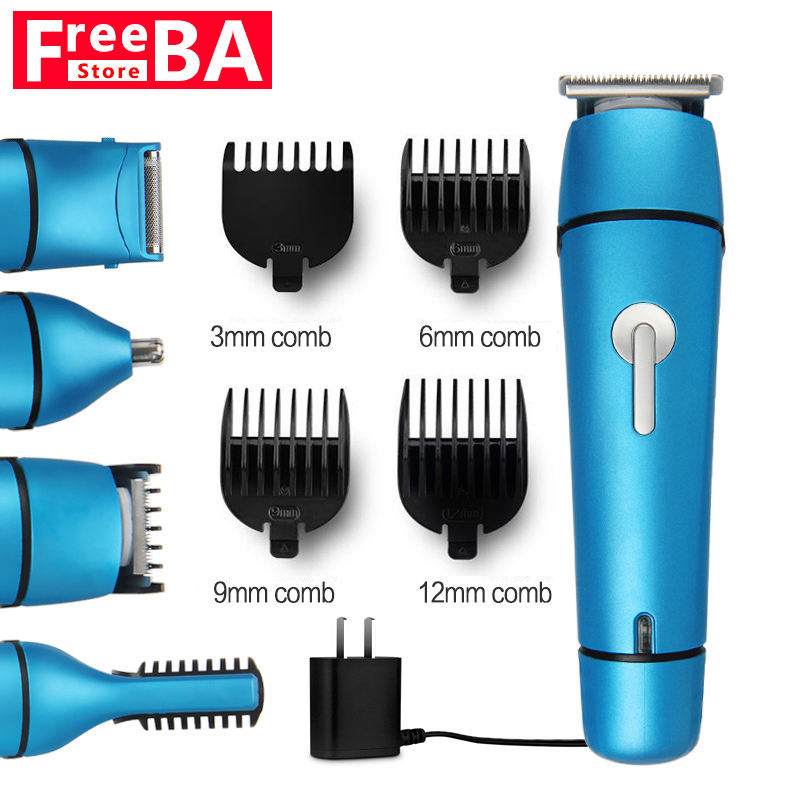 5 en 1 Rechargeable rasoir électrique nouveau Cutter électrique tondeuse à cheveux nez tondeuse à cheveux tondeuse multi-fonction rasoir barbier - 2