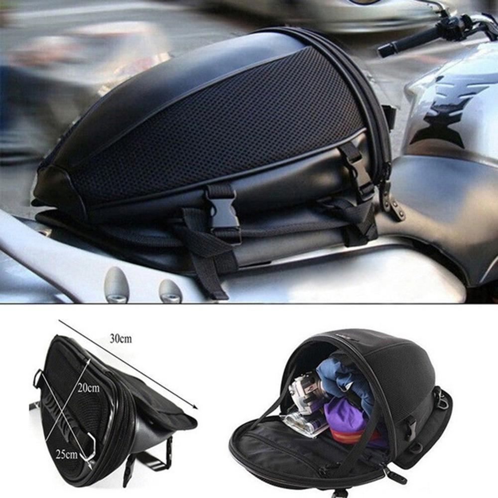 Waterproof Motorcycle Bike Rear Trunk Back Seat Carry Luggage Tail Bag Saddlebag
