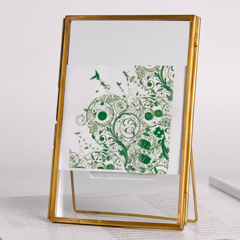 Wholesale Fashion Creative Copper Frame Glass Plant Specimen Holder ...