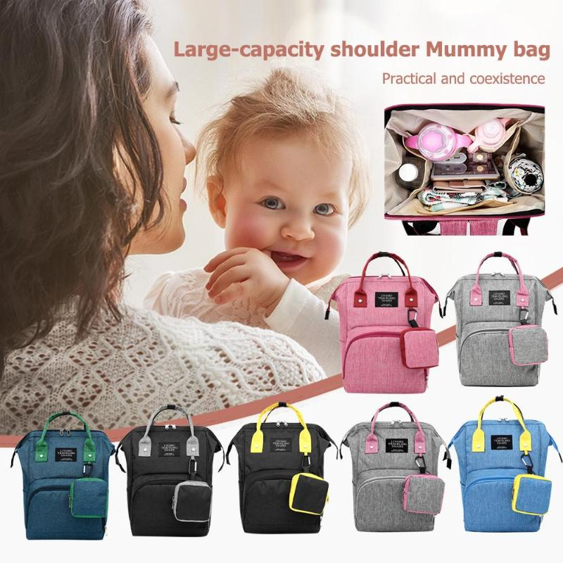 Polyester Mommy Backpack Wirth Mini Hanging Bag Large Capacity Maternity Diaper Bag Mother Travel Handbag For Baby Nappy Nursing