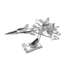 Nanyuan 3D Metal Puzzle Su-34 fighter Model DIY Laser Cut Assemble Jigsaw Toys Desktop decoration HIFF For Audit