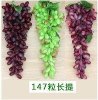 40 18CM High Simulation 147pcs Grapes Artificial PVC Material Fruit Plants Vine Pipeline Decoration Supplies Fruit