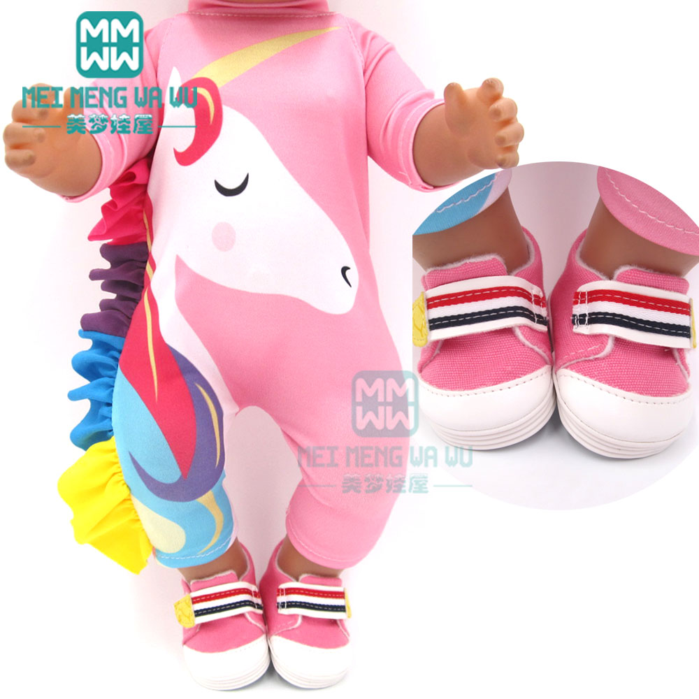 Clothes For Doll Fit 43cm New Born Doll Accessories And American Doll Unicorn Outfit Swimsuit Baby One-piece Clothes