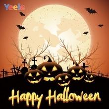 Yeele Halloween Party Decor Pumpkin Lantern Moon Photography Backdrops Personalized Photographic Backgrounds For Photo Studio