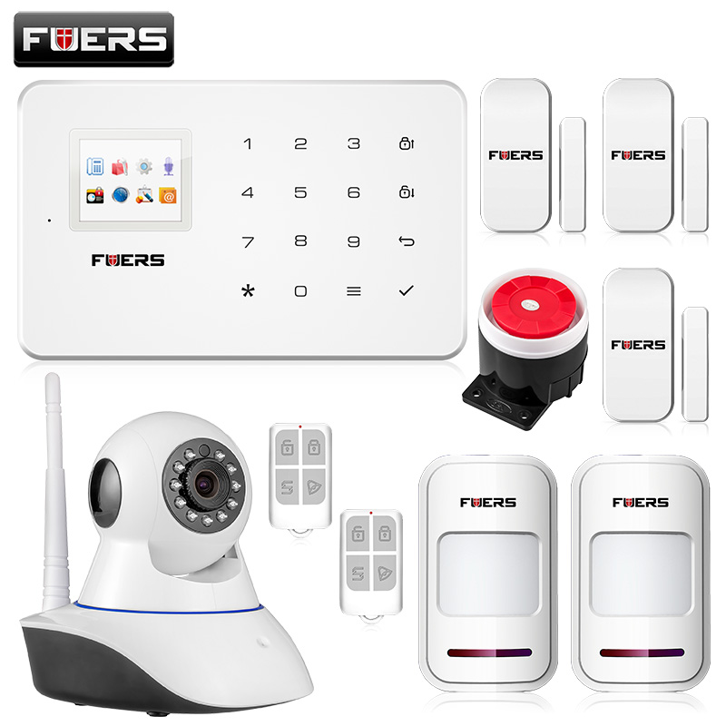 Fuers Wireless Phone App GSM Alarm System Home Security Alarma GSM 99 Wireless Zone TFT Color Display Built-In Siren GSM Alarm digma first xs350 2g