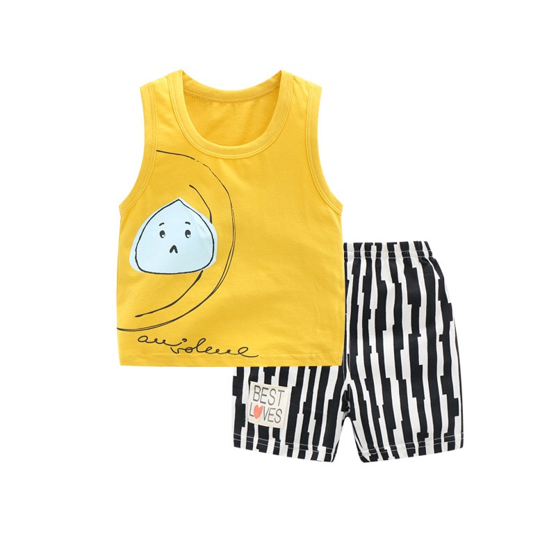 Summer time Child Women Boys Garments Set Sleeveless Tank Tops Vest+Shorts Outfits Children Garments Women Sport Swimsuit Kids Clothes