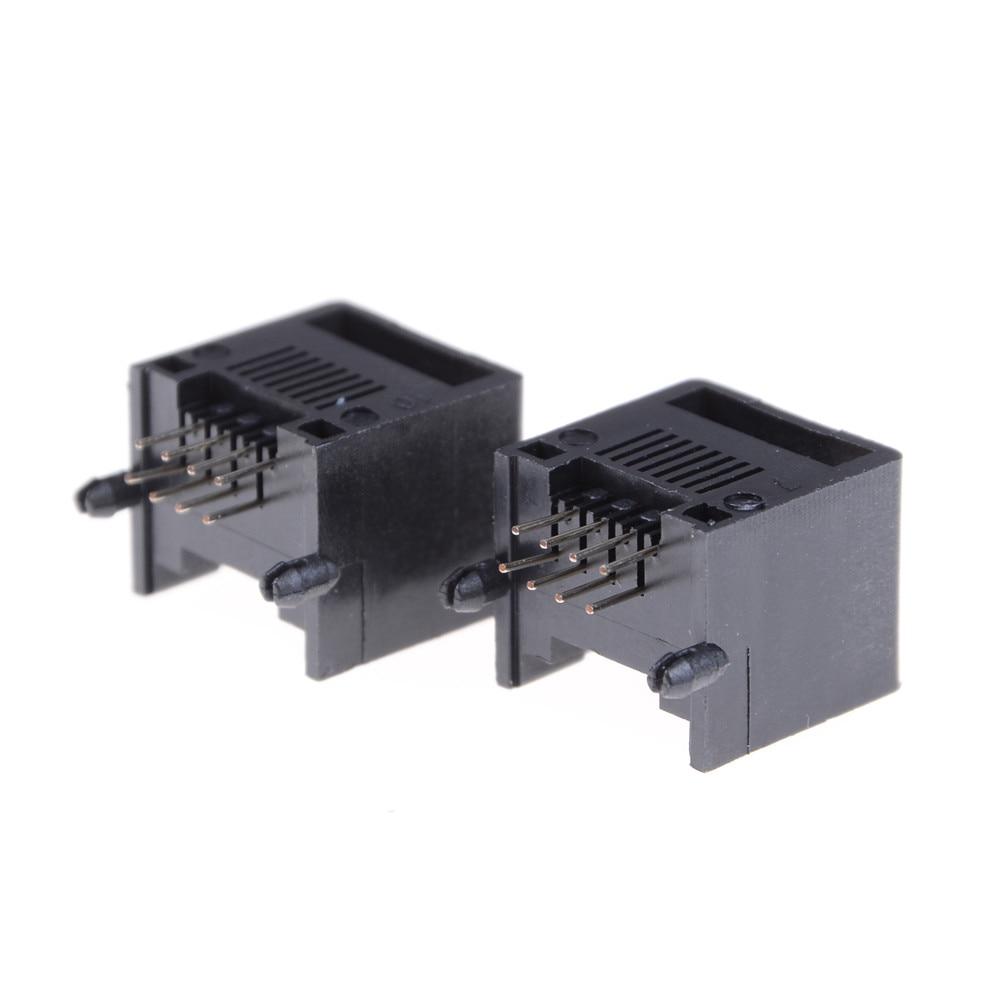 10pcs/lot Wholesale Black RJ45 8P8C Computer Internet Network PCB Jack Socket