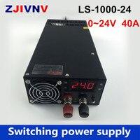 1000 Вт импульсный источник питания В 24 В 40A напряжение В 0 24 В Регулируемый источник питания с цифровым индикатором для гравировальной машины,