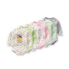 Baby Clothing Bodysuit Boys Girls Newborn Long Sleeve Cotton O-Neck Climbing Cotton Fashion Soft Clothes 5pcs