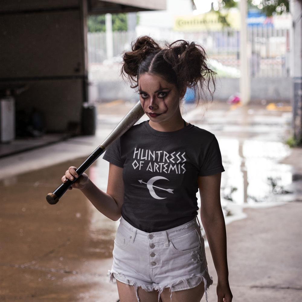 Percy Jackson T-Shirt Huntress Of Artemis T Shirt Pattern Large Size Women Tshirt Cotton Navy Casual O Neck Ladies Tee Shirt