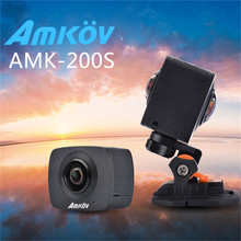 """Amkov 200 S Камара 360 двойной линзы Камера 0.96 """"ЖК-дисплей 8MP VR Камера Профессиональное видео Камера цифровая Действие HD Камера панорама"""