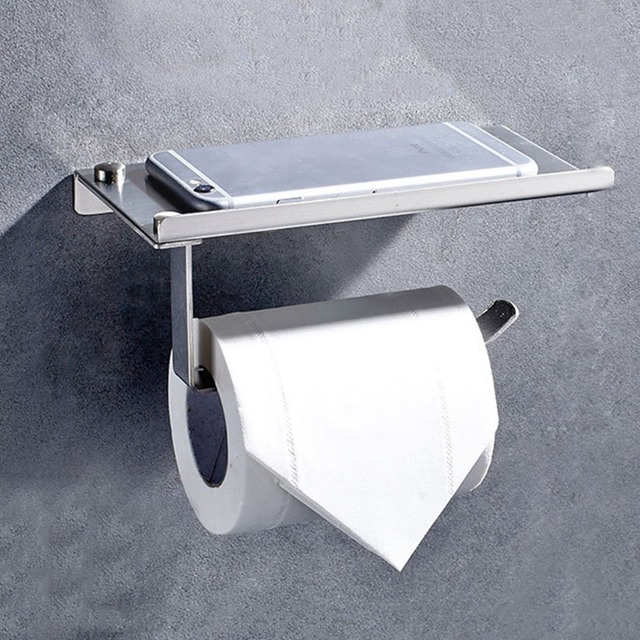 New Design Bathroom Toilet Paper Holder Stainless Steel Wall Mounted