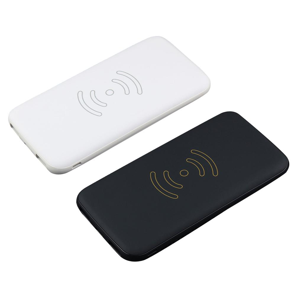 Ultra-thin Qi Wireless Touch Charging Pad 10000mAh Capacity 3-in-1 Portable USB Charger Rechargeable External Backup Battery