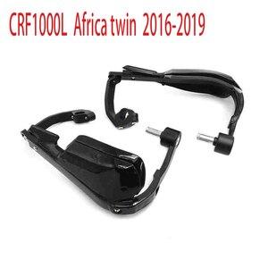 Image 2 - Honda africa twin crf1000l 용 2016 2018 dct 오토바이 윈드 쉴드 핸들 핸드 가드 모토 크로스 핸드 가드 커버