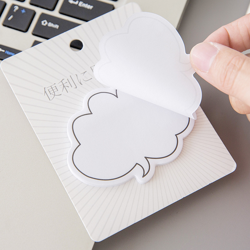 Creative Dialogue Cloud Kawaii Memo Pad Cute Sticky Notes Notepad Stationery Sticker Stationary Memopad Index Tab Office Decor