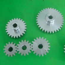 1M-23T  Outer Diameter:25mm Inner Hole:5mm Aluminum Straight Gear Cylindrical Spur
