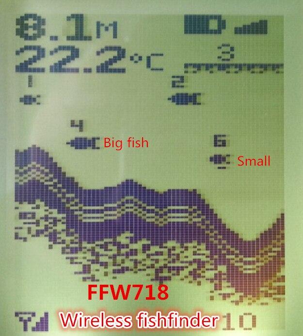 Русский Меню Язык Беспроводной Sonar Сенсор реки озера море Bed Live Update контур 131ft/40 м Fishfinder Рыболокаторы ffw718