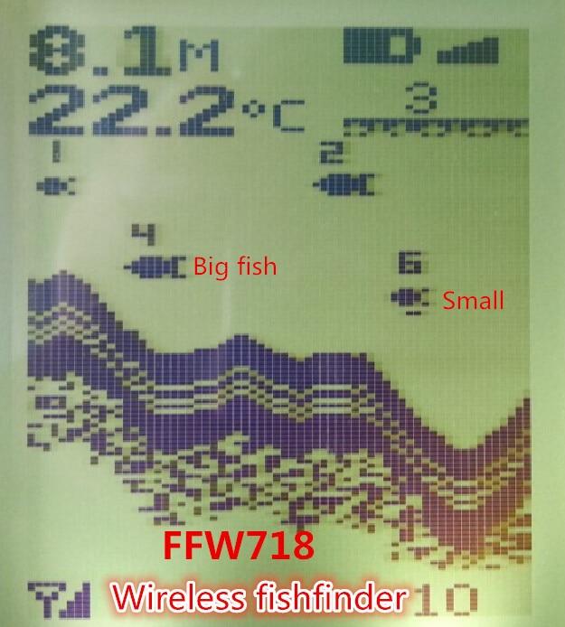 Руски език на менюто Безжичен сензор за сонари Езерото на река Езеро Легло актуализиране Contour 131ft / 40M Fishfinder Fish Finder ffw718
