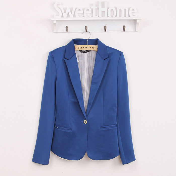 Spring Women Blazer Brand Jacket Made Of Cotton Basic Jackets Candy Color Long Sleeve Slim Suit Blazer Female Small Suit WWT7574 1