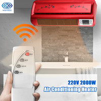 2000W 220V Warm Air Blower Electric Heater Fan Bathroom Wall Hanging Ceramic Thermal Heating Radiator Conditioner