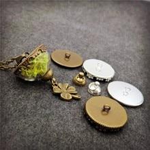 50sets/lot 20mm half of glass globe with base set vial pendant fashion necklace