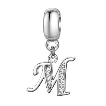 Ασημένια charms γράμματα Α – Ζ Βραχιόλια Κοσμήματα Αξεσουάρ MSOW