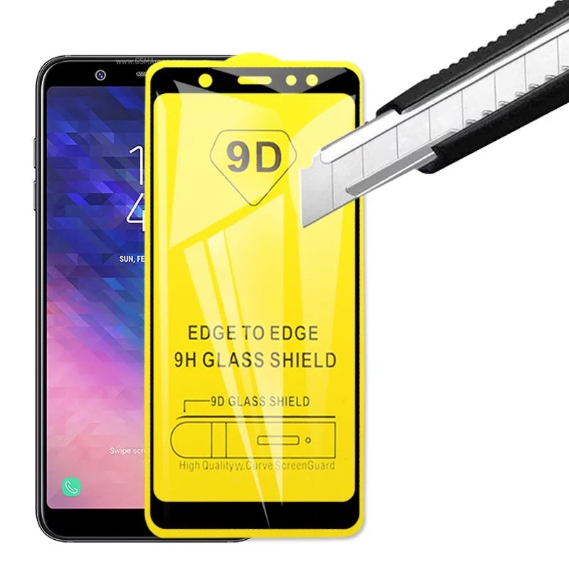 20 PCS 9D Full Curved Tempered Glass On The For Samsung Galaxy J4 J6 J7 J8 2018 J2 J5 J7 Prime Protective Cover Glass Film in Phone Screen Protectors from Cellphones Telecommunications