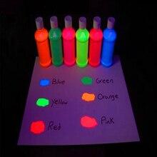 Halloween UV Temporary Tattoo Blacklight Paint Kit 6 Tubes (Colors)/ Set, Neon Body & Face UV Reactive Paint Tubes 1oz/ tube