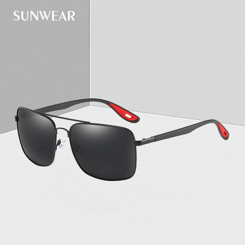 2019 Neuer Stil Sonnenbrillen Marke 2019 Fashion Square Polarisierte Männer Sonnenbrille Neue Design Tr90 Tempel Fahren Sonnenbrille Klassische Schwarz Brillen Belebende Durchblutung Und Schmerzen Stoppen