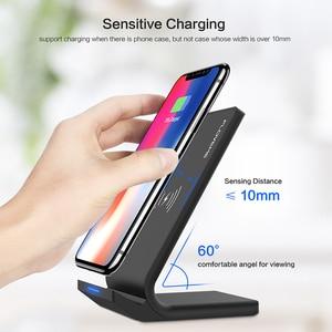 Image 2 - FLOVEME 삼성 갤럭시 S8 S7 S10 용 5V/2A 무선 충전기 Note 8 9 Qi 무선 충전 도크 For iPhone12 11MAX USB 충전기