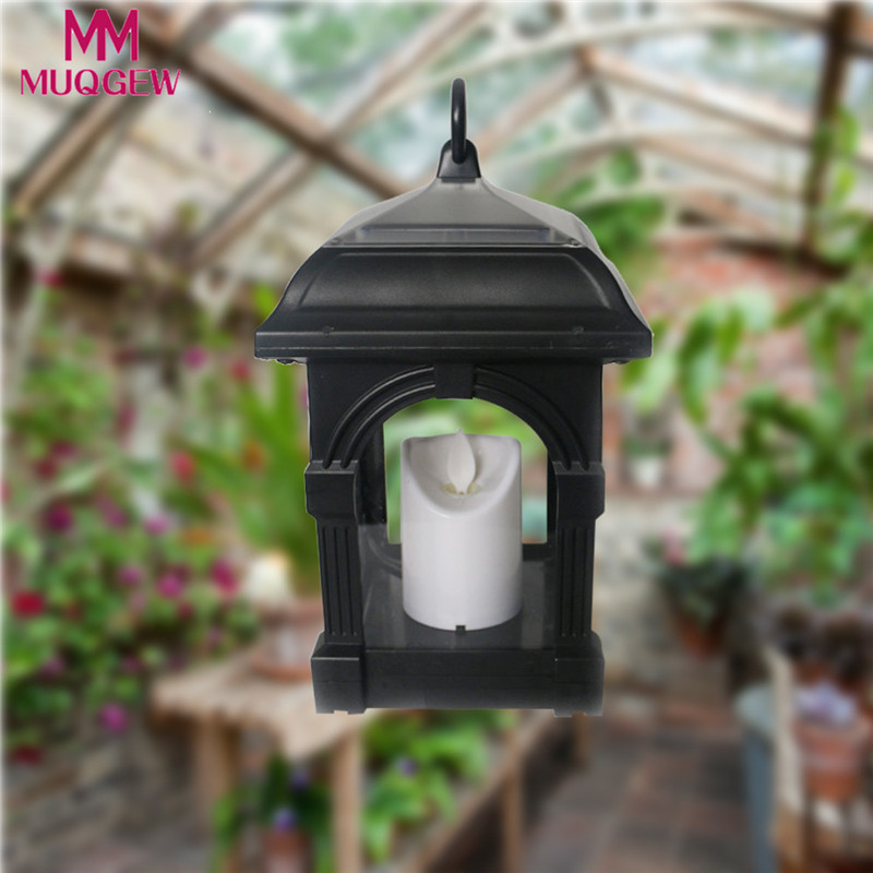 Porch Light Flickers When Off: Solar Lantern Candle Light Waterproof Garden Flickering