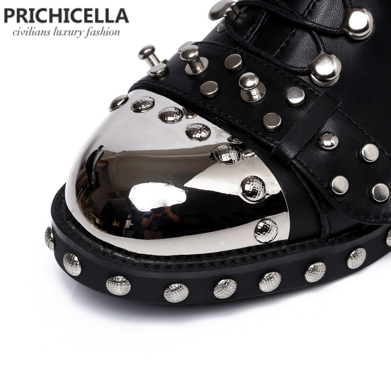 High Quality lace ankle boots
